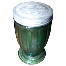 Jeanette Glass Jenny Ware Ultramarine Green Shaker with Lid - Red Tag Sale Item
