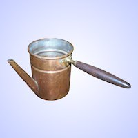 Vintage  Copper  Metalware Turkish Coffee Pot with Wood Handle