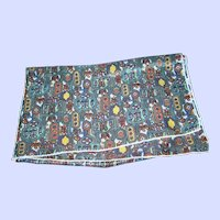 A Pretty Richly Patterned Long Rectangular Scarf Wearable Art