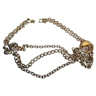 GRRRRRRRRowl A Lion Themed Wild Cat  Brass Metal Ladies Fashion Belt 26 inches Channel Style
