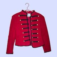 Vintage Canadian  Designer Vicki Lynn Bardon Suttles & Seawinds Size P Red Short Jacket