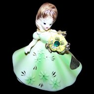 A May Emerald Josef Originals Birthday Girl Figurine JAPAN