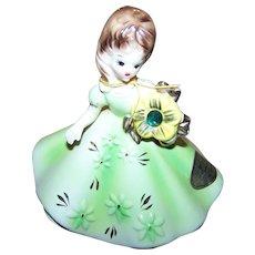 A May Emerald Josef Originals Birthday Girl Figurine JAPAN