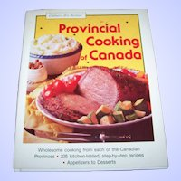 Hard Cover Cook Book Provincial Cooking of Canada Culinary Arts Institute
