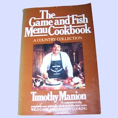 Soft Cover Cook Book The Game and Fish Menu Cookbook