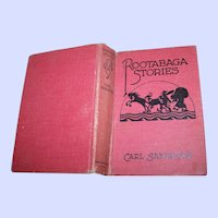 What A Great Find A Vintage Hard Cover Book Rootabaga Stories by Carl Sandburg