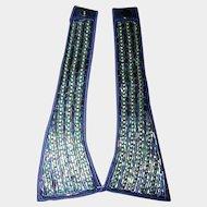 Sweet Ladies Vintage Deco Era Rhinestone & Glass Bead Silk Collar Fashion Accent