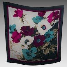 Lovely Large Designer Signer Anne Klein Water Color Style Floral Print Scarf