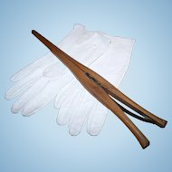Ladies Vintage Wood Wooden Glove Stretcher Registered No 1