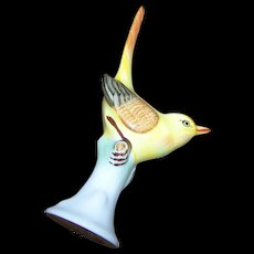 Delicate Vintage Porcelain Bird Figurine 6 Hollohaza Hungary Hand Painted 1831