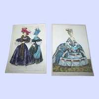 A Charming Vintage Ladies Fashion Paper Prints Print Lot Home Decor Wall ART
