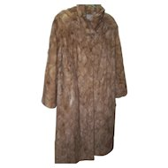 Stunning Vintage Full Length Blonde Mink Fur Ladies Fashion Coat