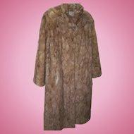 Stunning Vintage Full Length Blonde Mink Fur Ladies Fashion Coat