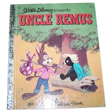 Hard Cover Children's Book Walt Disney presents Uncle Remus