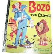 """Charming Illustrated Children's Book """" Bozo The Clown """" A Little Golden Book"""