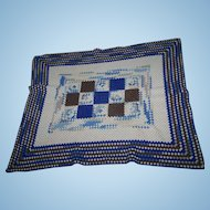 A Lovely Vintage Hand Crochet Small Blanket Throw  Home Decor Accent