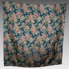 Beautiful Gently Used Designer Harve Benard 100 % Silk Scarf Flower Pattern