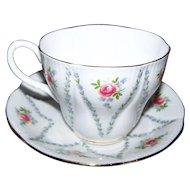 Royal Albert Tea Cup Saucer Set  England Floral Theme Minuet