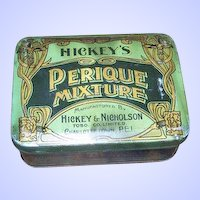 Golden Nouveau Style Decorated Hickey & Nicholson Advertising Tobacco Tin Canada PEI