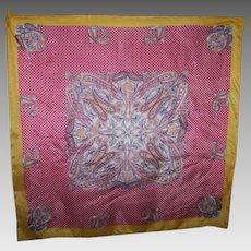 Delicate Vintage Paisley Op Art Ladies Fashion  Silk Scarf
