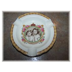 Creampetal Royalty Ashtray Princess Elizabeth & Margaret Rose