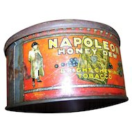 Vintage Advertising Tin Can Napoleon Chewing Tobacco W.C. MacDonald Montreal Canada