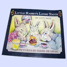 """Soft Cover Booklet Book """" Little Rabbit's Loose Tooth """" by Lucy Bate"""