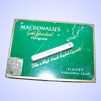Vintage Advertising Tobacco Tin Litho Cigarette Case MACDONALDs Gold Standard