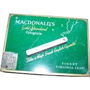 Vintage Advertising Tobacco Tin Litho Cigarette Case MACDONALDs Gold Standard