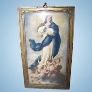 Framed Color Religious  Print of The Immaculate Conception Lovely Wall Art