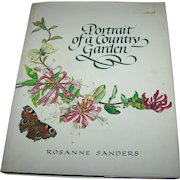 "Over Size Book "" Portrait of a Country Garden ""  Rosanne Sanders"