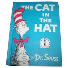 Charming Vintage  Hard Cover Book Cat In The Hat Dr. Seuss