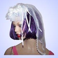 Bridal Head Piece Wedding Special Event Fascinator Hair Decoration Holy  Communion Veil