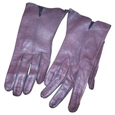 Genuine Deer Skin Hand Washable Size 6 1/2 Ladies Fashion Gloves For A Small Hand