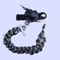 A Trio Of  Vintage Hair Treasures Flapper Girl Sequin Feather Floral Band Barette Hair Braid