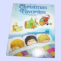 Hard Cover Book Christmas Favorites Including Jingle Bells & The Night Before Christmas