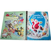 Charming Vintage Childrens Book Walt Disneys Santas Toy Shop