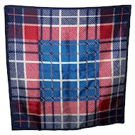 Unisex Geometric Square Rectangular  Line Dash Pattern Scarf