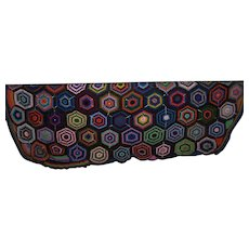 A Cheerful Bright Colorful Granny Square Style Hand Crochet Blanket Bed Spread