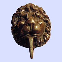 Lovely Decorative Brass Metalware Wild Cat  Lion Head Door Knocker Home Decor Treasure