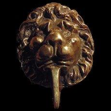 Lovely Decorative Brass Metalware Lion Head Door Knocker Home Decor Treasure