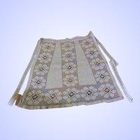A Sweet Vintage Hand Crochet Ladies Decorative Apron Floral Theme