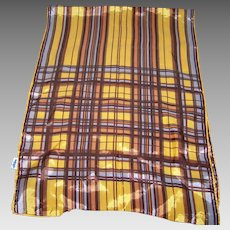 Lovely Geometric Long Rectangular Scarf 100% Acetate MI Japan WPL#
