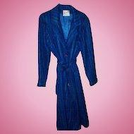 Denise for Windermere Vintage Ladies  Mohair Long Fashion Coat Hickman's Wilmington Del.