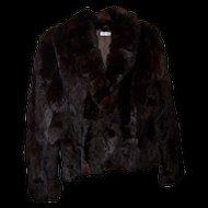 Stylish Vintage Short Rabbit Fur Jacket Made in Korea Ladies Size M