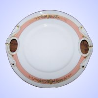 Vintage Decorative Art Nouveau 10 Inch Cake Plate Palmer & Wisner Importers 33 State St Rochester N.Y.