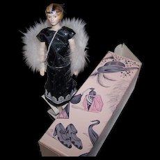 GLORIA Roaring Twenties Flapper Girl Style Bisque Porcelain Doll Circa 1989 Avon Bygone Days