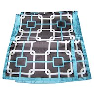 A Wonderful Vintage Geometric OP Art  Print Long Rectangular Unisex Fashion Scarf