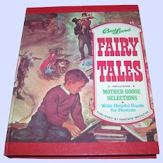 """Over Sized Hard Cover Children's Book """" Best Loved Fairy Tales """" Including Mother Goose Illustrated"""