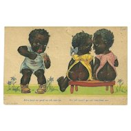"A Sweet Vintage Humour Black Americana Postcard ""Ah's Bout As Mad As Ah Can Be"""